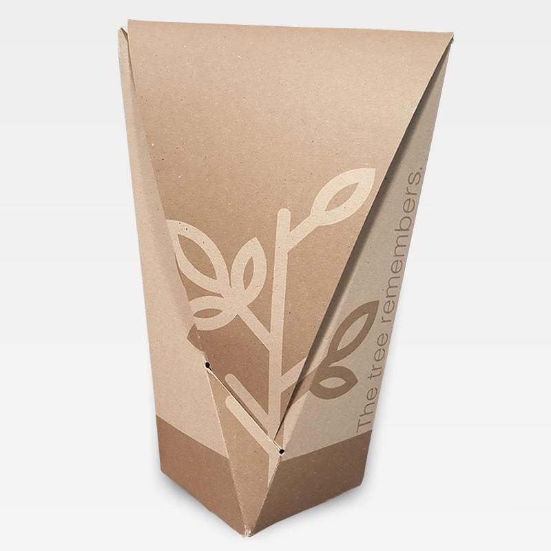 Urna biodegradable. Puedes plantar esta urna con una semilla y tierra
